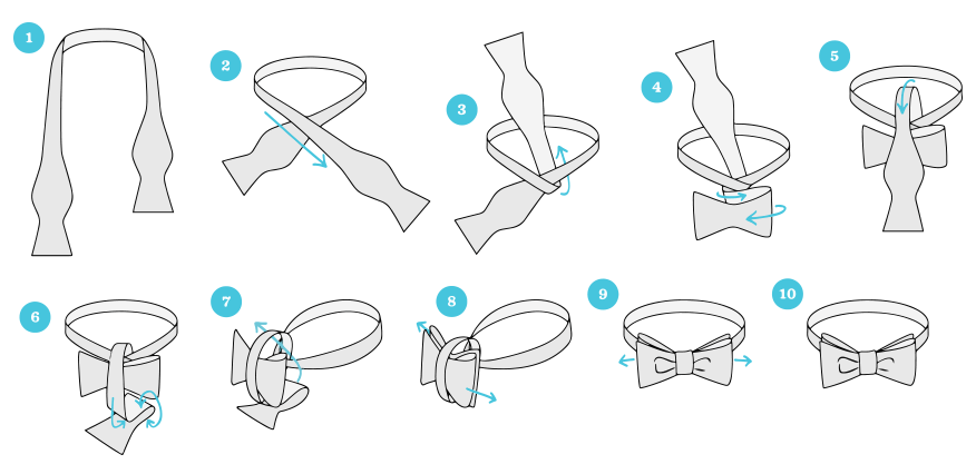 instrucciones corbatin pajarita