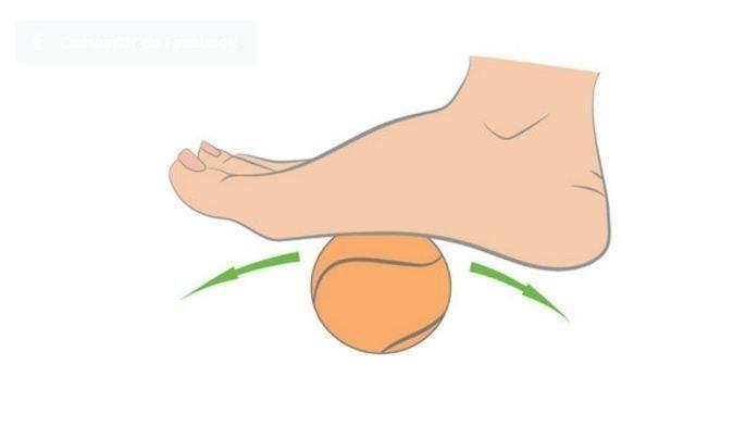 Masaje en los pies pelota de tenis
